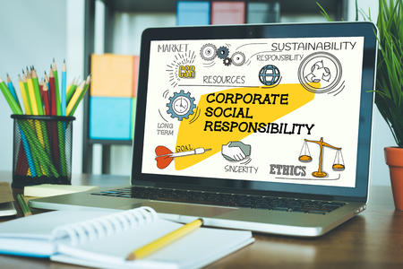 BUSINESS MARKETING COMMUNICATION AND CORPORATE SOCIAL RESPONSIBILITY CONCEPT