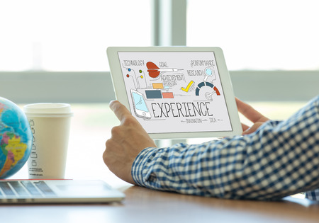 internet user: INTERNET USER KNOWLEDGE CUSTOMER AND EXPERIENCE CONCEPT