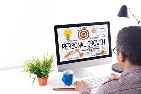 superacion personal: NEGOCIO DE TRABAJO PERSONAL éxito de la formación y el crecimiento concepto PERSONAL Foto de archivo