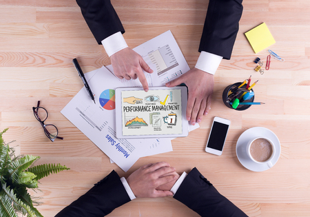 intervenes: BUSINESS JOB SUCCESS AND PERFORMANCE MANAGEMENT CONCEPT