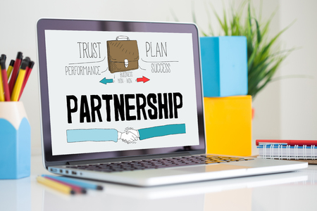 affiliation: BUSINESS CORPORATE FINANCE TRUST AND PARTNERSHIP CONCEPT Stock Photo