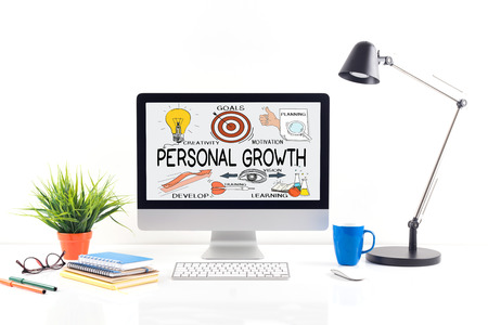 crecimiento personal: BUSINESS JOB PERSONAL SUCCESS TRAINING AND PERSONAL GROWTH CONCEPT