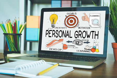 BUSINESS JOB PERSONAL SUCCESS TRAINING AND PERSONAL GROWTH CONCEPT