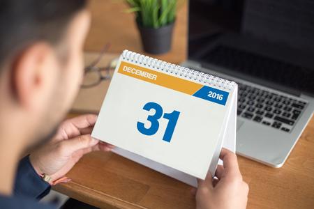december: Calendar Concept - December 31, 2016