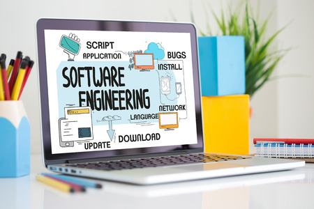 verification and validation: TECHNOLOGY INTERNET SYSTEM AND SOFTWARE ENGINEERING CONCEPT Stock Photo