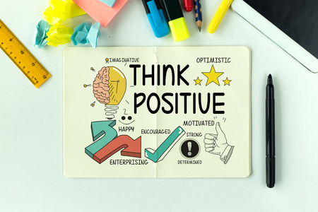 strong message: BUSINESS EDUCATION MOTIVATION AND THINK POSITIVE CONCEPT