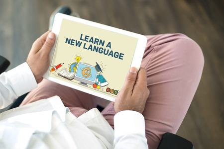 fluency: EDUCATION STUDY LEARNING COLLEGE LANGUAGE SCHOOL COURSE CONCEPT Stock Photo