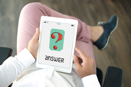 answers concept: ANSWERS CONCEPT Stock Photo