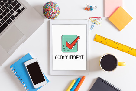 commit: BUSINESS LEADERSHIP COMMITMENT CONCEPT Stock Photo