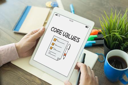 ethic: CORE VALUES CONCEPT