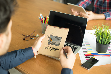 epayment: BUSINESS COMMERCE SHOPPING INTERNET E-PAYMENT CONCEPT