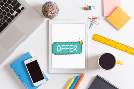 commerce: BUSINESS COMMERCE RETAIL OFFER CONCEPT Stock Photo