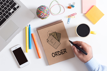 commerce: BUSINESS COMMERCE RETAIL ORDER CONCEPT Stock Photo