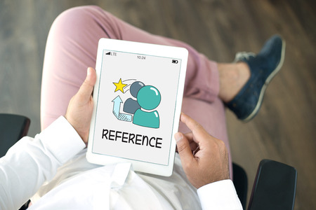 reference: REFERENCE CONCEPT Stock Photo