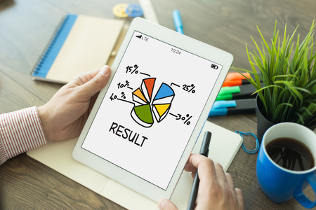 consequence: PERFORMANCE CHART GROWTH RESULT CONCEPT Stock Photo