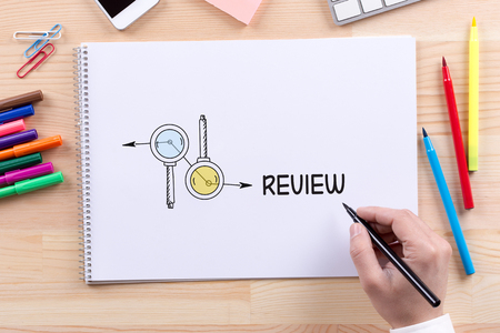 review: BUSINESS FEEDBACK MANAGEMENT REVIEW CONCEPT Stock Photo