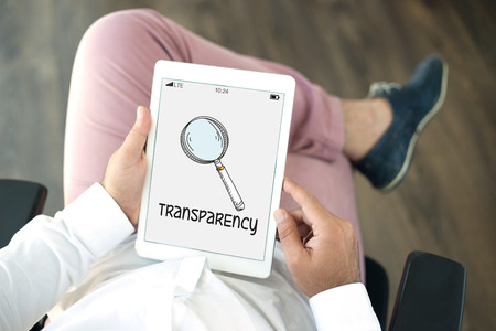 apparent: REGULATION POLICY TRANSPARENCY CONCEPT Stock Photo