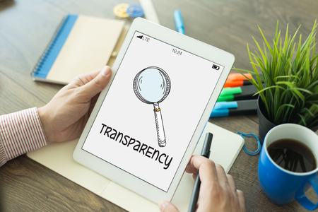REGULATION POLICY TRANSPARENCY CONCEPT Stock Photo