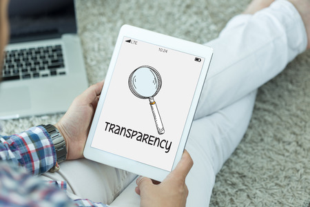 evident: REGULATION POLICY TRANSPARENCY CONCEPT Stock Photo