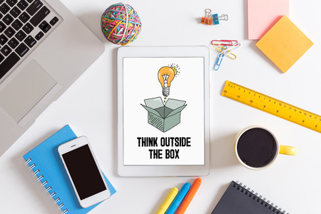 expressing artistic vision: THINK OUTSIDE THE BOX CONCEPT