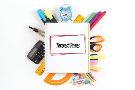 interest rates: INTEREST RATES concept Stock Photo