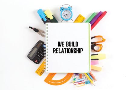 social grace: WE BUILD RELATIONSHIP concept
