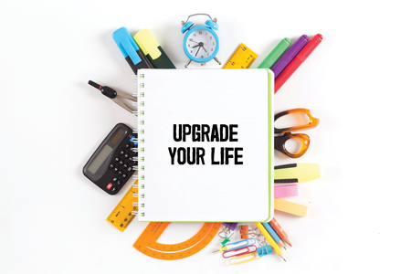 life extension: UPGRADE YOUR LIFE concept
