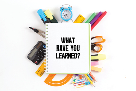 recap: WHAT HAVE YOU LEARNED? concept