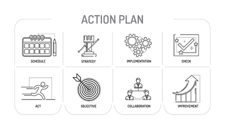 functional: ACTION PLAN - Line icons Concept