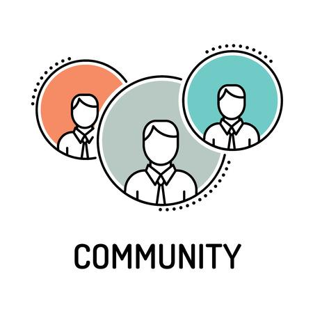 altogether: Community Line Icon