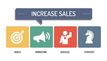 increase sales: INCREASE SALES - ICON SET Illustration
