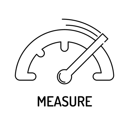 summarized: MEASURE Line icon