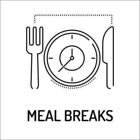 breakout: MEAL BREAKS Line icon