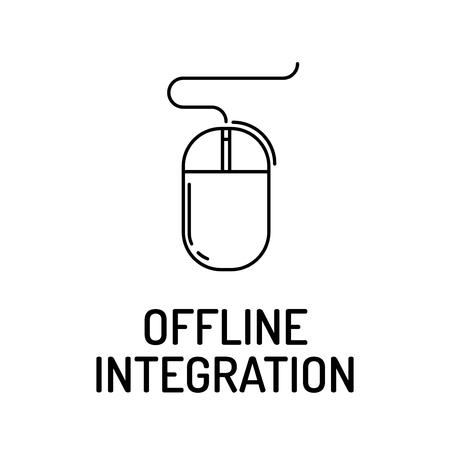 offline: OFFLINE INTEGRATION Line icon Illustration