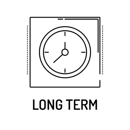 long term: LONG TERM Line icon
