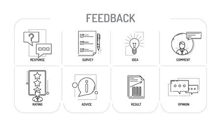 FEEDBACK - Line icons Concept