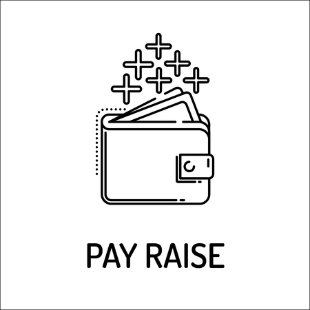 perks: PAY RAISE Line icon Illustration