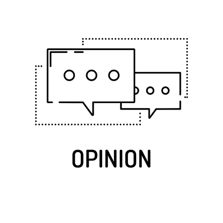 opinion: OPINION Line icon Illustration