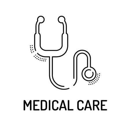 medical bills: MEDICAL CARE Line icon