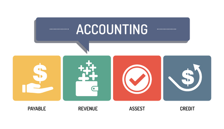 ACCOUNTING - IKONENSET Standard-Bild - 66904439