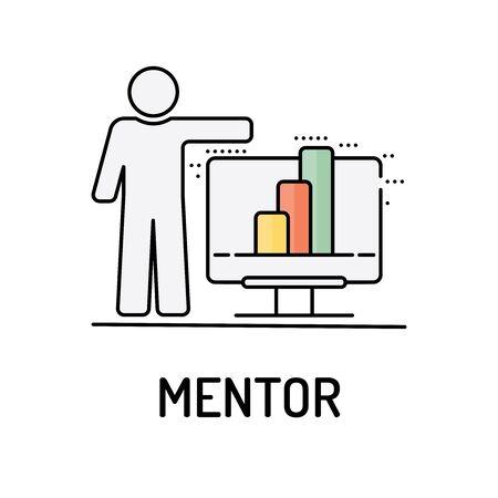 mentor: MENTOR Line icon
