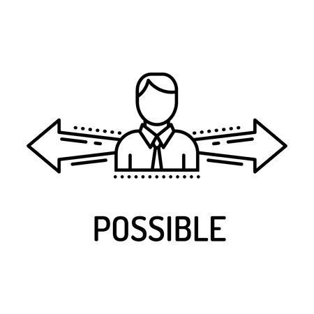 achievable: Possible Line Icon Illustration