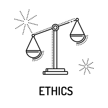 ETHIEK Line Icon Stock Illustratie