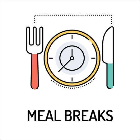 breaks: MEAL BREAKS Line icon