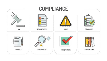COMPLIANCE - Line icon Concept Illustration