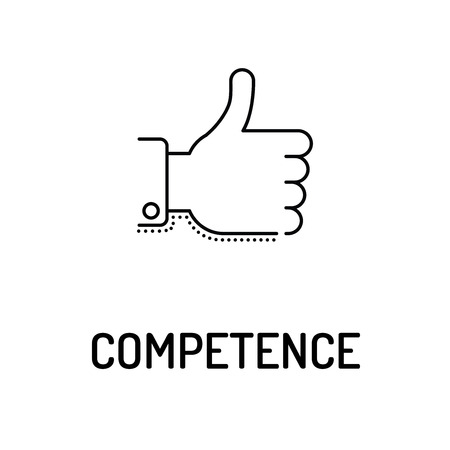 competence: COMPETENCE Line icon