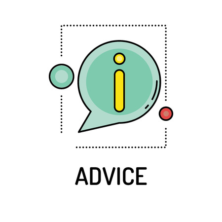 financial advisors: ADVICE Line icon