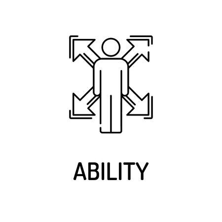 personal trainer: ABILITY Line icon