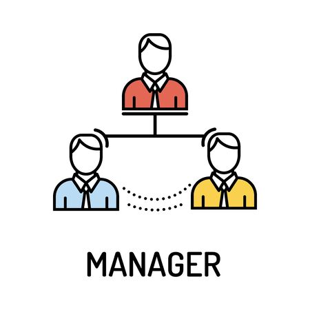 manager: MANAGER Line Icon Illustration