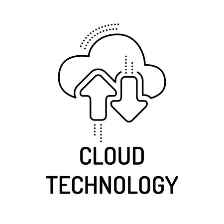 cloud technology: CLOUD TECHNOLOGY Line icon